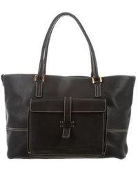 Loro Piana - Leather Globe Bag Black - Lyst