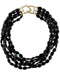 Kenneth Jay Lane - Beaded Multistrand Necklace Gold - Lyst