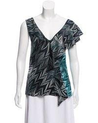 36e5feaee5ca6 Diane von Furstenberg - Printed Sleeveless Top - Lyst