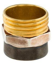 Maison Margiela - Plumbing Ring Brass - Lyst