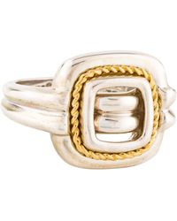 Tiffany & Co. - Two-tone Square Cocktail Ring Yellow - Lyst