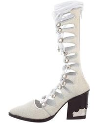 Toga Pulla - Ponyhair Gladiator Boots W/ Tags Silver - Lyst