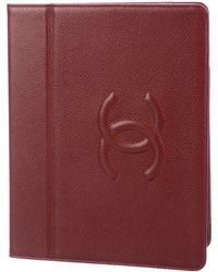 Chanel - Caviar Timeless Ipad Case Red - Lyst