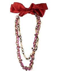 Nina Ricci - Double Strand Necklace Gold - Lyst
