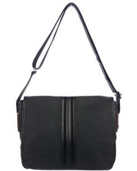 Tod's - Leather-trimmed Coated Messenger Black - Lyst