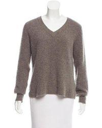 VEDA - Cashmere V-neck Sweater Grey - Lyst