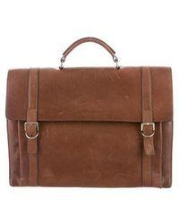 Brunello Cucinelli - Leather Briefcase Brown - Lyst