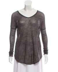 Helmut Lang - Lightweight Knit Sweater Grey - Lyst