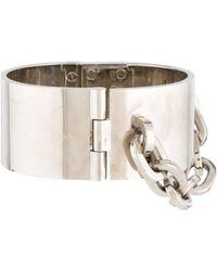 Louis Vuitton - Lock Me Manchette Bracelet Silver - Lyst