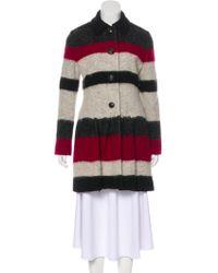 Thakoon - Knee-length Wool-blend Coat Grey - Lyst