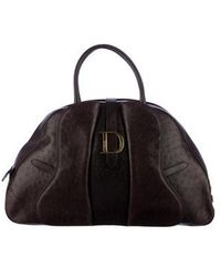 Dior - Double Saddle Bag Brown - Lyst