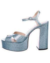 Marc Jacobs - Platform Glitter Sandals - Lyst