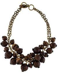 Lela Rose - Wooden Bauble Bib Necklace Brass - Lyst