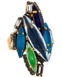 Erickson Beamon - Crystal Cluster Ring Gold - Lyst