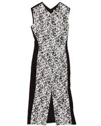 Jason Wu - Brush Stroke Midi Dress - Lyst