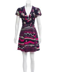 Marc Jacobs - Morning Glories Wrap Dress Navy - Lyst