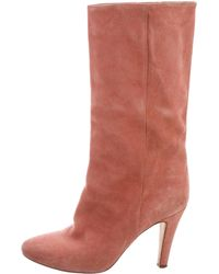 Brother Vellies - Suede Mid-calf Boots Orange - Lyst