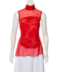 Givenchy - Sleeveless Lace Top - Lyst