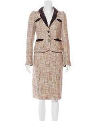 Marc Jacobs - Metallic Tweed Skirt Suit W/ Tags Tan - Lyst