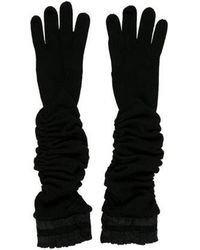 Alice + Olivia - Ruched Merino Wool Gloves - Lyst