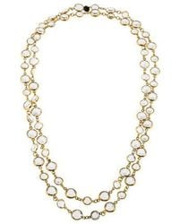 Chanel - Crystal Sautoir Long Necklace Gold - Lyst