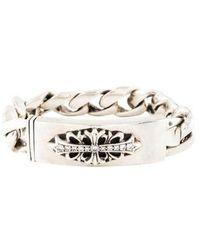 Chrome Hearts - Diamond Curb Chain Bracelet Silver - Lyst