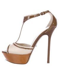 dab282bc219 Lyst - Sergio Rossi Platform Sandals Silver in Metallic