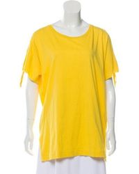 Dries Van Noten - Tie-accented Short Sleeve T-shirt W/ Tags - Lyst