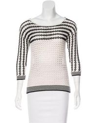 Sandro - Striped Bateau Neck Sweater - Lyst