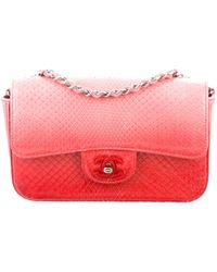 9ad0b8966406c3 Lyst - Chanel Python Shiva Flap Bag Metallic in Metallic
