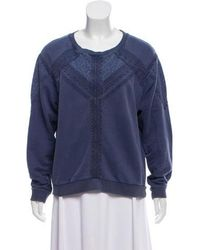 Vanessa Bruno Athé - Lace-accented Long Sleeve Top - Lyst
