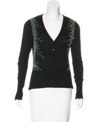 Class Roberto Cavalli - Embellished Silk Blend Cardigan - Lyst