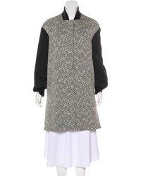 N°21 - Slit-accented Tweed Coat - Lyst