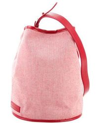 Creatures of Comfort - Small Woven Bucket Bag Red - Lyst