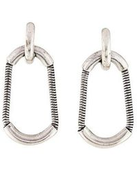 Giles & Brother - Cortina Snake Chain Drop Earrings Silver - Lyst