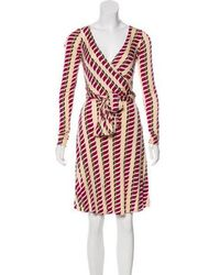 Issa - Silk Knee-length Dress Beige - Lyst