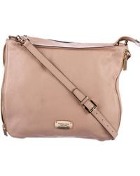 MICHAEL Michael Kors - Michael Kors Grained Leather Hobo Pink - Lyst
