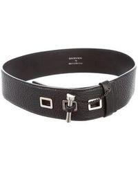Carven - Leather Waist Belt Black - Lyst