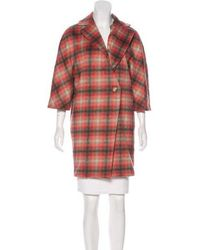 Thakoon Addition - Plaid Cocoon Coat - Lyst