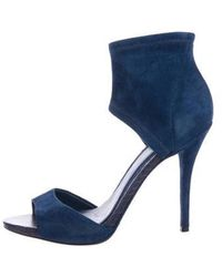 B Brian Atwood - Suede Ankle Sandals - Lyst