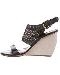 Rebecca Minkoff - Leather Laser-cut Wedges - Lyst