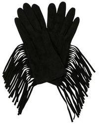 Lanvin - Suede Fringe Gloves - Lyst