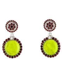 Tagliamonte - Mother Of Pearl Doublet & Granet Drop Earrings Silver - Lyst