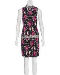 Wes Gordon - Printed Sleeveless Dress - Lyst