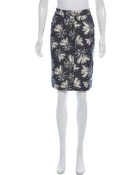 L'Agence - Printed Pencil Skirt W/ Tags Grey - Lyst