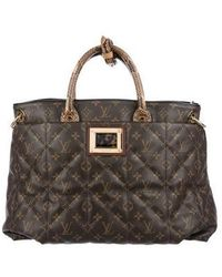 Louis Vuitton - Python & Ostrich-trimmed Etoile Exotique Tote Gm Brown - Lyst