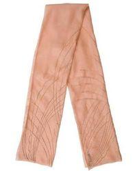 Carolina Herrera - Embellished Mesh Scarf Pink - Lyst