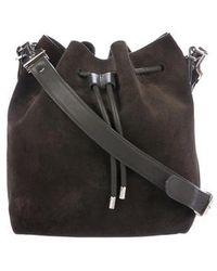 Proenza Schouler - Leather-trimmed Suede Bucket Bag Brown - Lyst