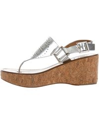 41299dc26447 Lyst - Tory Burch Cork Marion Sandals in Natural