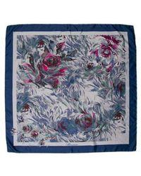 Blumarine - Printed Silk Scarf Blue - Lyst